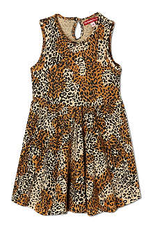 OH BABY LONDON Leopard print skater dress 3months-3years