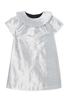 HUCKLEBONES Lamé pleat collared dress 3-18 months