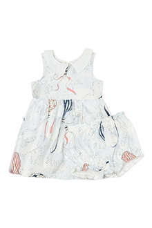 HUCKLEBONES Balloon-print dress 3-18 months