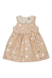 HUCKLEBONES Polka dot bodice dress 3-18 months