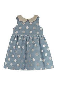 HUCKLEBONES Polka dot bodice dress 3-12 months