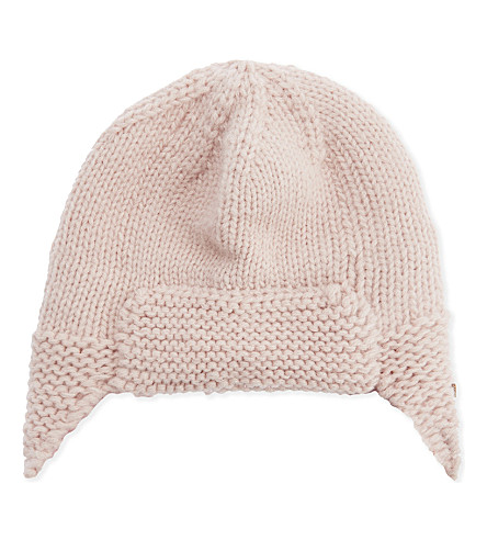 BARTS BV Yuma knitted trapper hat (Pink