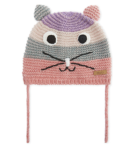 BARTS BV Animal striped knitted hat (Pink