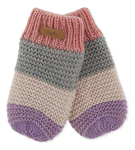 BARTS BV Cuddle stripe mittens 0-2 years (Pink