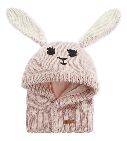 BARTS BV Cria knitted bunny hood (Peony