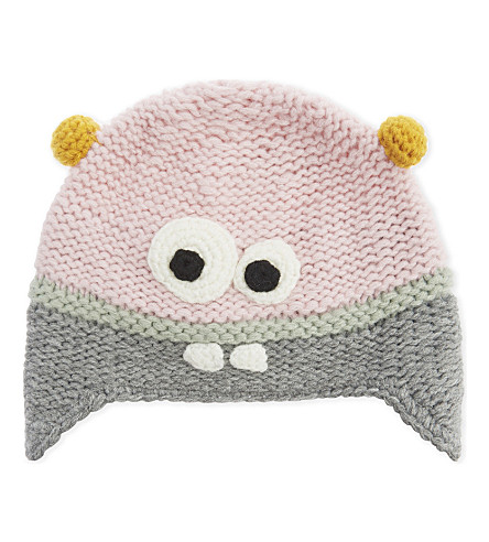 BARTS BV Joey monster knitted beanie (Peony