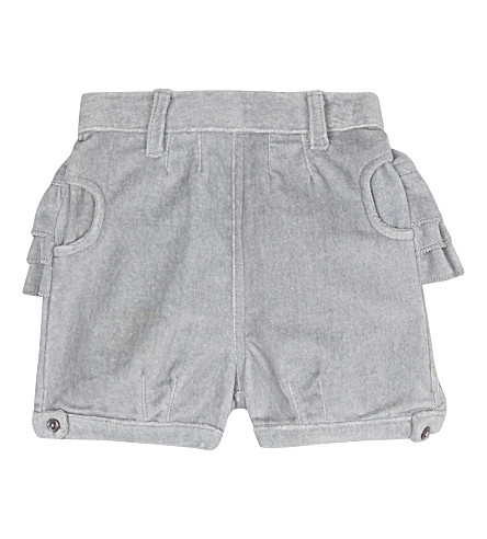 THE LITTLE TAILOR Velvet shorts 0-36 months (Sv+silver+velvet