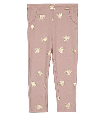 THE LITTLE TAILOR Printed star leggings 0-36 months (Bz+pink+starburst
