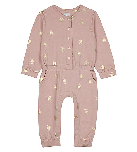 THE LITTLE TAILOR Printed star jersey babygrow 3-24 months (Bz+pink+starburst