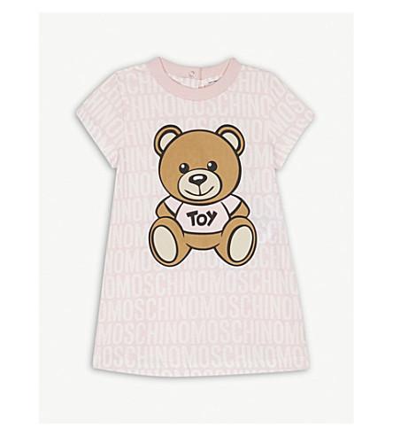 MOSCHINO Teddy bear logo cotton dress 6-36 months (Pink