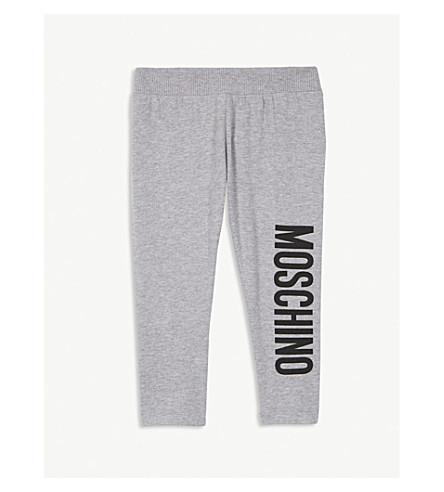 MOSCHINO Logo stretch-cotton leggings 6-36 months (Grey