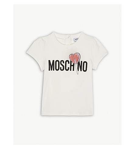 MOSCHINO Lolly logo T-shirt 6-36 months (White