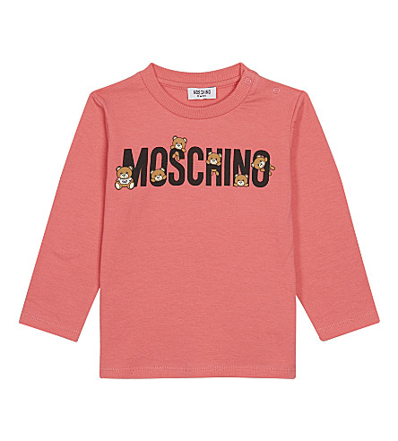 MOSCHINO Logo cotton-blend T-shirt 3-36 months (Pink