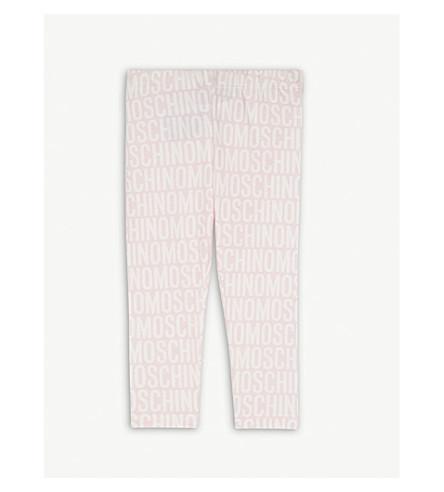 MOSCHINO Logo cotton-blend leggings 6-36 months (Pink