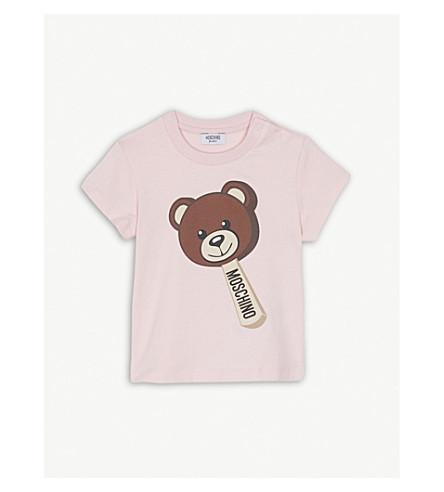 MOSCHINO Bear lolly cotton-blend T-shirt 6-36 months (Pink