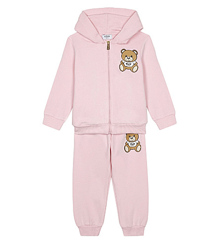 MOSCHINO Teddy bear cotton tracksuit 3-3 6 months (Pink