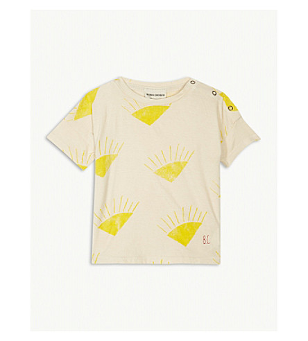 BOBO CHOSES Sun print organic cotton T-shirt 3-24 months (Cream