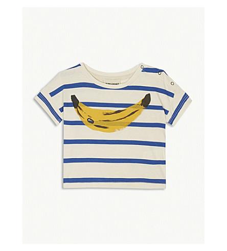 BOBO CHOSES Stripe banana organic cotton T-shirt 3-24 months (Cream