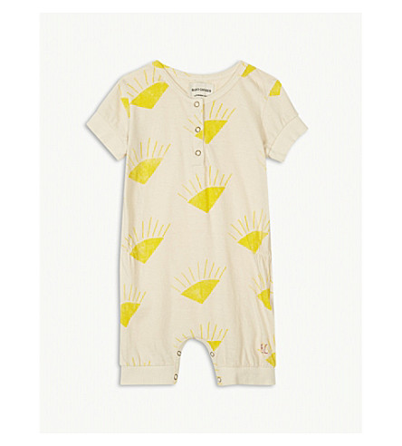 BOBO CHOSES Sun print organic cotton bodysuit 3-24 months (Cream