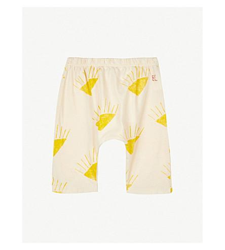 BOBO CHOSES Sun-print jersey trousers 6-12 months (Cream