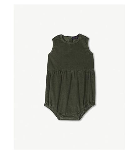TINY COTTONS corduroy sleeveless bodysuit 0-18 months (Green