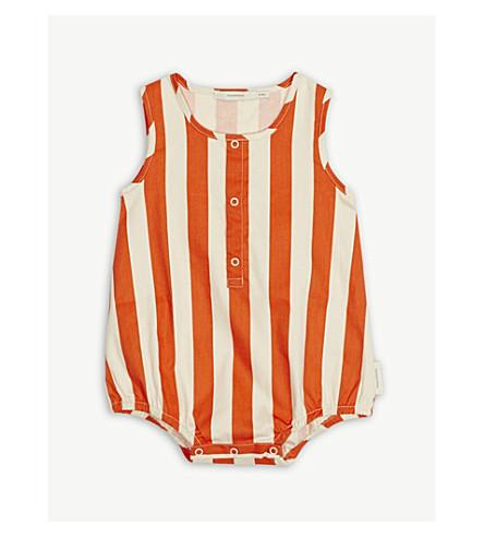 TINY COTTONS Striped cotton bodysuit 0-18 months (Orange