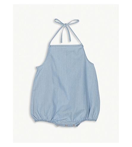 TINY COTTONS Denim cotton bodysuit 0-18 months (Blue