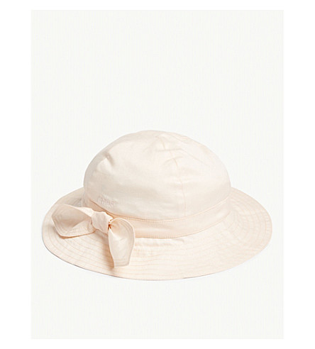 CHLOE Bow cotton sun hat (Pink