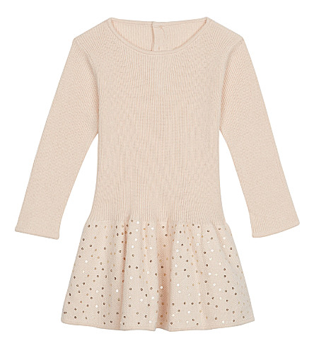 CHLOE Sequin long sleeved dress 6-36 months (Pale+pink