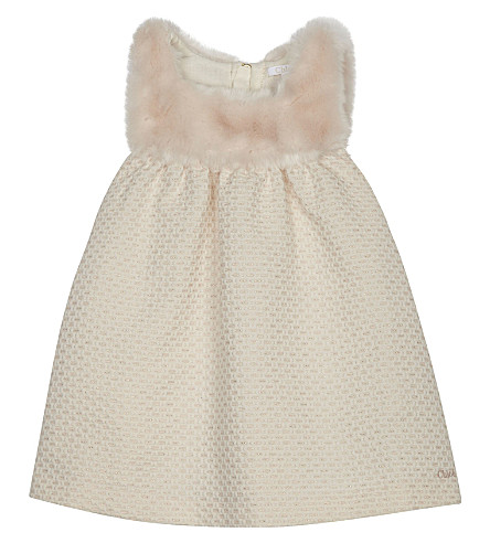 CHLOE Fluffy cotton dress 6-36 months (Pale+pink