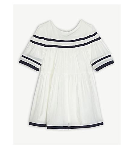 CHLOE Crepe stripe dress 6-36 months (White