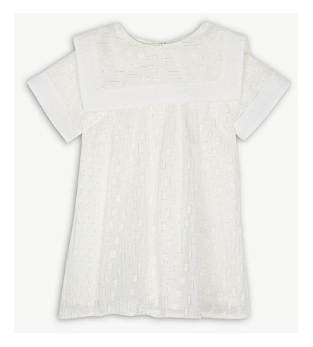 CHLOE Metallic detail dress 6-36 months (White