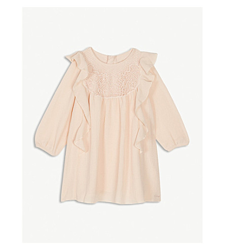CHLOE Chloé褶绉裙 6 月 3 岁 (粉红色
