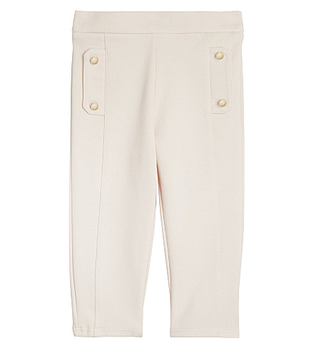 CHLOE Milano cotton & modal trousers 6-36 months (Pale+pink