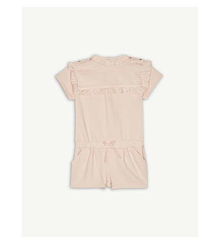 CHLOE Frilled top cotton playsuit 6-36 months (Pink
