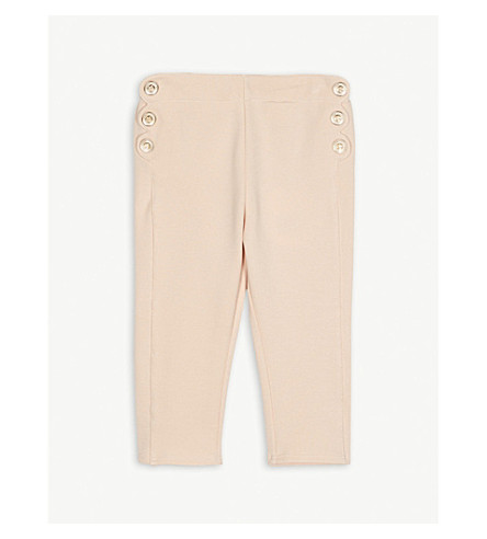 CHLOE Milano button scalloped trousers 6-36 months (Pink