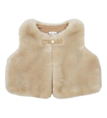CHLOE Faux-fur vest 6-36 months (Caramel