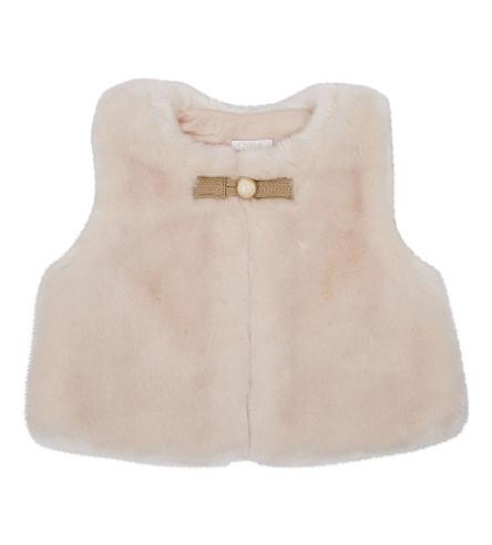 CHLOE Faux-fur vest 6-36 months (Pink