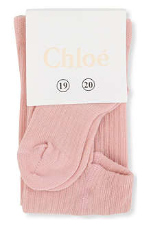 CHLOE Logo tights 7-10 years