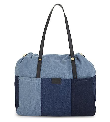 CHLOE Patchwork denim changing bag (Denim+blue