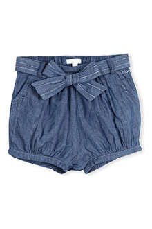CHLOE Chambray bow detail shorts 3 months - 3 years