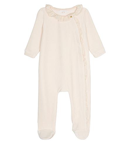 CHLOE Velour bodysuit 1-9 months (Pale+pink