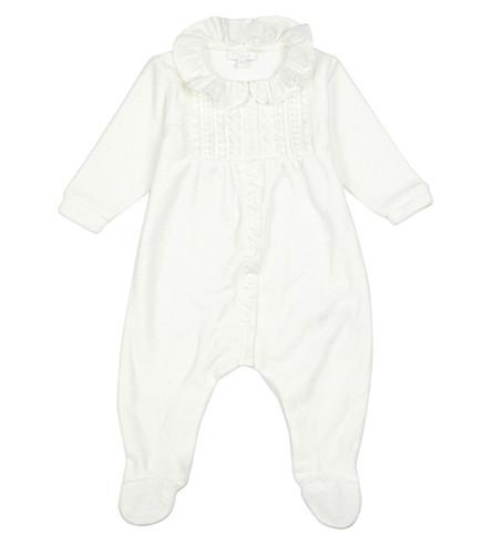 CHLOE Velour bodysuit 1-6 months (White