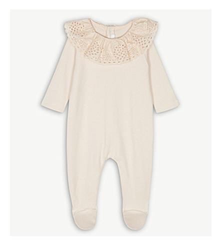 CHLOE Ruffle collar cotton baby-grow 3-9 months (Pink