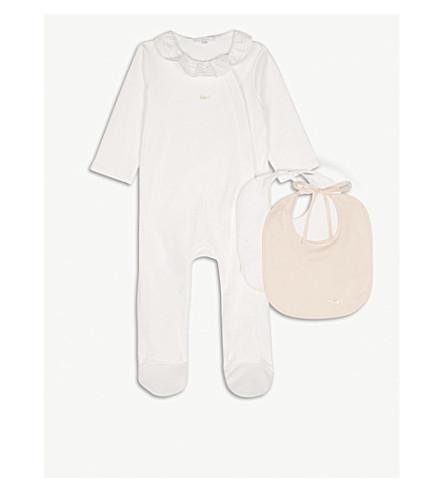 CHLOE Baby grow & bib set 1-9 months (White