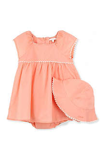CHLOE Dress and hat set 3-18 months