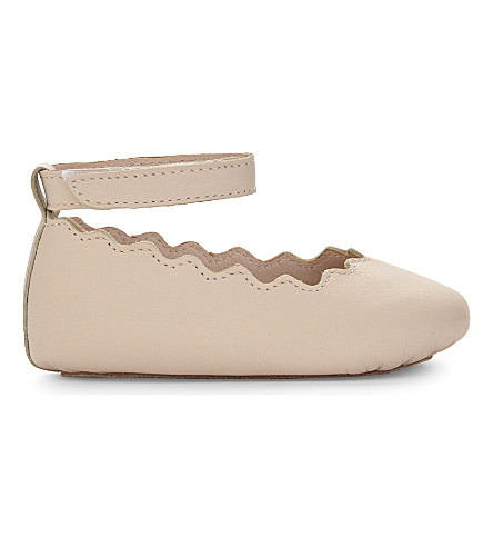 CHLOE Scalloped ballet pumps (Pale+pink