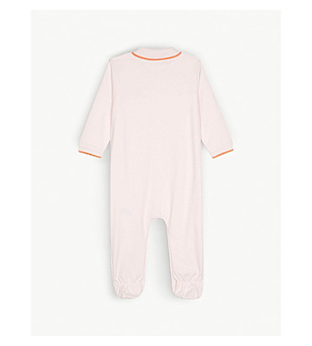 BOSS Logo cotton polo baby-grow 1-18 months (Pink