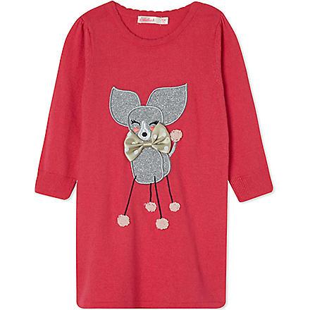 BILLIEBLUSH Dog knitted dress 3months-3years (Fuschia