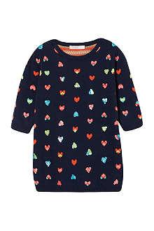 BILLIEBLUSH Sequin heart knit dress 12 months